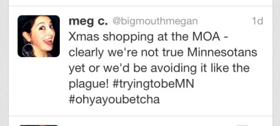 oh yeah, i'm on twitter dudes - you can find me at @bigmouthmegan