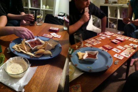 chippies 'n dip may be gone, but the game was in full swing!